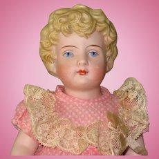 "9"" All Bisque Kling Child...Pretty Doll!"