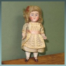 "4 1/2"" All Bisque Kestner '130 / 2 / +' Doll House Size"
