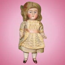 """4 1/2"""" All Bisque Kestner '130 / 2 / +' Doll House Size"""