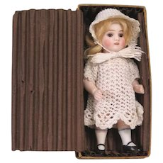 """5 1/2"""" Early ABG All Bisque Doll in Original Box"""