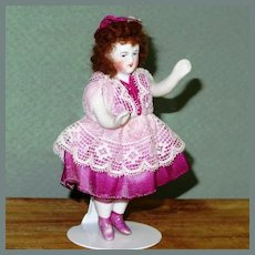 """3 7/8"""" Parian with Pink Luster Boots"""