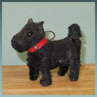 "3"" Scottie ~ German & Mohair Covered"