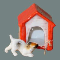Hertwig Doghouse & Dog for your Dollhouse or little Doll
