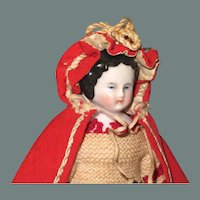"""6 3/4"""" High Brow China in Rare Bathing Costume ~ Charming!"""