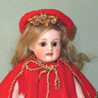 """Pretty 8"""" Kestner 150 All Bisque Doll ~ Marked 150.3."""