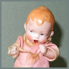 "3 1/2"" ~ ""The Thumbsucker"" Great little all bisque character doll!"