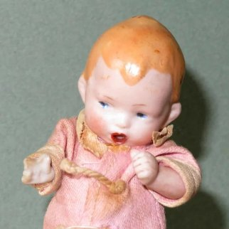 """3 1/2"""" ~ """"The Thumbsucker"""" Great little all bisque character doll!"""