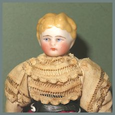 "Cute 6"" Kling Dollhouse Lady with Molded Hair"