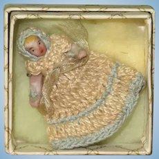 "1 3/8"" Carl Horn Christening Baby All-Orig in Box~ Precious!"