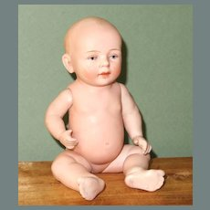 """6"""" Antique All bisque Kestner Baby...modern versions are known as """"Robbie"""""""