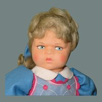 "17"" Lenci 'Marta' 1997 Re-Issue of 1931 Classic Scowling Doll...Ltd Ed of 999"