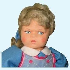 "17"" Lenci 'Marta' 1997 Re-Issue of 1931 Classic Scowling Doll...Ltd Ed of 999"