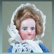 "4"" All Bisque French Mignonette Doll with Blue Boots"