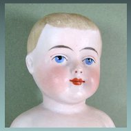 "9 1/2"" Antique Immobile Bisque / Frozen Charlie ~ A Lovely Lad!"