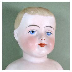 """9 1/2"""" Antique Immobile Bisque / Frozen Charlie ~ A Lovely Lad!"""