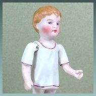 "3 3/8"" Kestner Boy in Molded Night Shirt ~ Sweet Face! ~ Marked '772 3/0'"