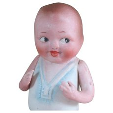 """4 1/4"""" Nippon BABY BUD All Bisque Doll"""