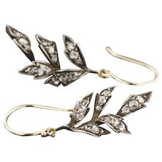 Diamond Dangle Earrings | Diamond Branch Earrings | Pin Conversion Earrings | Diamond Dangles | Bridal Earrings