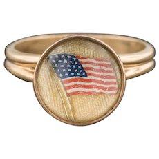 American Flag Ring | 14k Gold Ring | Conversion Ring | Patriotic Ring | 14k Gold Flag Ring