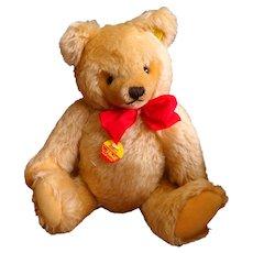 Vintage Jointed  Gold Mohair Steiff Teddy Bear