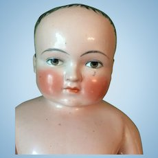 Antique Pink Tinted China Frozen Charlie Doll
