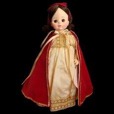 Vintage Hard Plastic Madame Alexander Snow White Doll #1556
