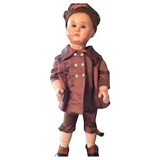 Rare Antique German Bebe Tout en Bois Wooden Boy Doll