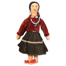 Vintage Cloth Native American Made Navajo Doll