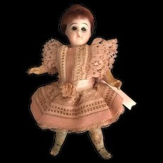 """Antique 5"""" German Doll with Bisque Head and Composition Body"""