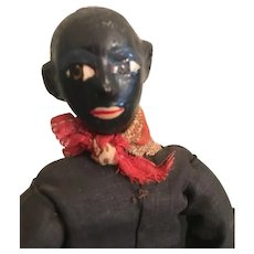 1940s Era Paper Mache Male African American Art Doll with Paperwork
