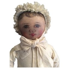 SALE Antique Cloth Columbia Doll as Child.