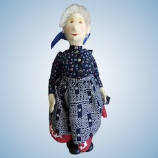 Steiff Peasant Lady  Felt Doll with Box, Stand and Tag 87/88