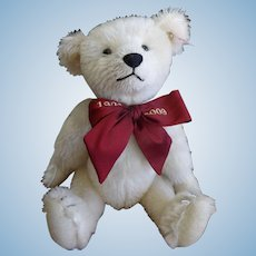 Steiff Summer 2009 Teddy Bear White Mohair Jointed LE