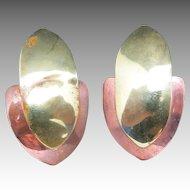 Copper earrings OOAK Hand Made Brass Accents