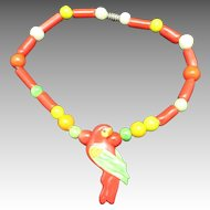 Parrot Pearls NECKLACE PARROT Ceramic Bird