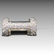 Rhinestone pin TUSSie MUSSie wedding Bride Silver tone