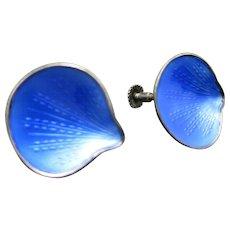 Blue ENAMEL Earrings Norway FINN Jensen