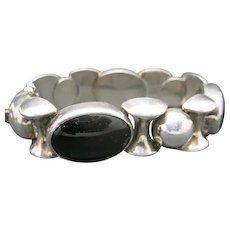 Big link Bracelet ONYX Sterling silver MEXICO