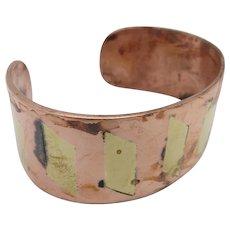 Cuff bracelet BRASS INLAY Metales Casados COPPER