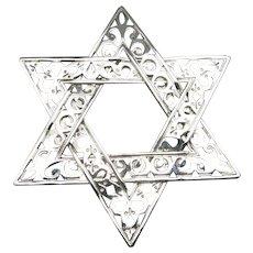 Jewish star clip Silver tone metal John Hardy