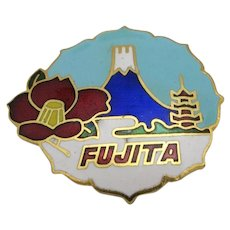 Fujita airlines Pin Japanese cloisonne enamel Transportation