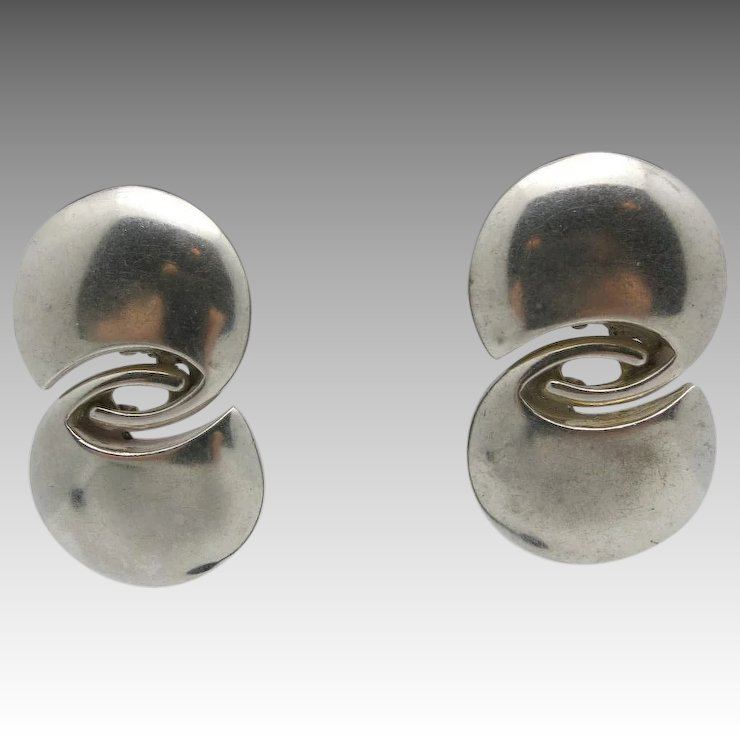 drop silver modernist ziora product sterling style earrings