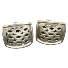 John Hardy Earrings Sterling Silver Clip On Big Rectangles