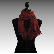 Checked Scarf Buffalo red black RALPH Lauren