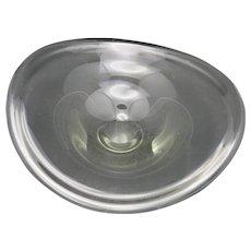 Modernist Glass bowl Selandia Bowl by Per Lutken Holmegaard