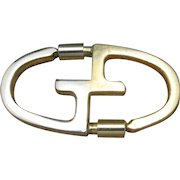 Vintage Key Ring GUCCI italy GG logo Seventies