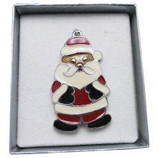 Santa Ornament Wallace Enamel NIB