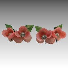 Shell earrings Florida souvenir Handmade Pink