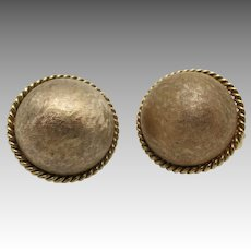Estate Earrings Made in Italy Classic button shape