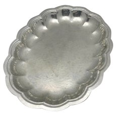 Cellini craft serving bowl Hand wrought argental
